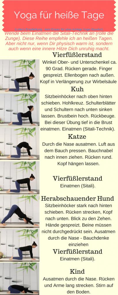Pitta-senkende Yoga-Übungen