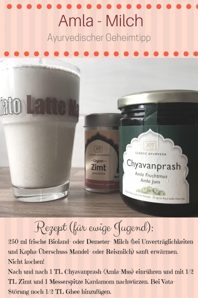 Milch mit Chyavanprash