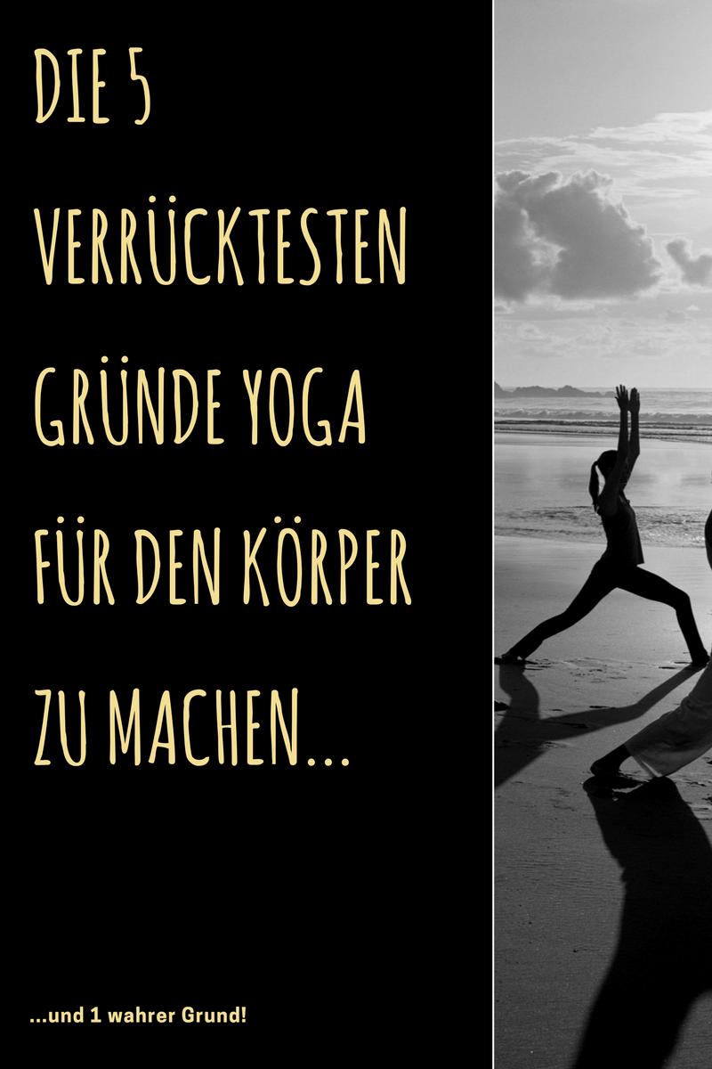 """Pinterest-Grafik zum Blog-Post """"Geiler Arsch - dank Yoga"""""""