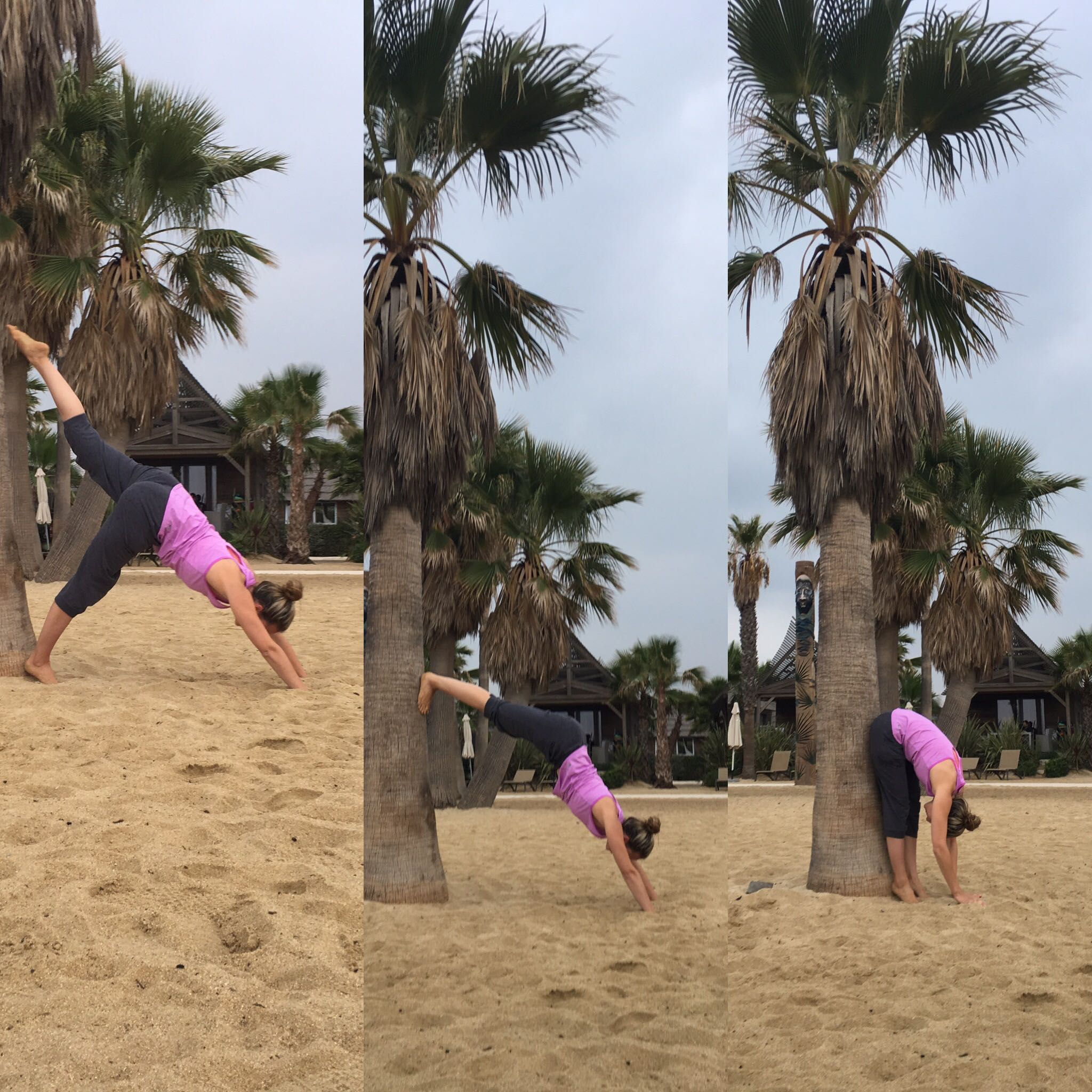 Yoga am Strand mit Lotte