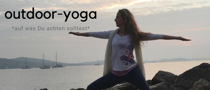 Erfahrungen und tipps im outdoor-yoga