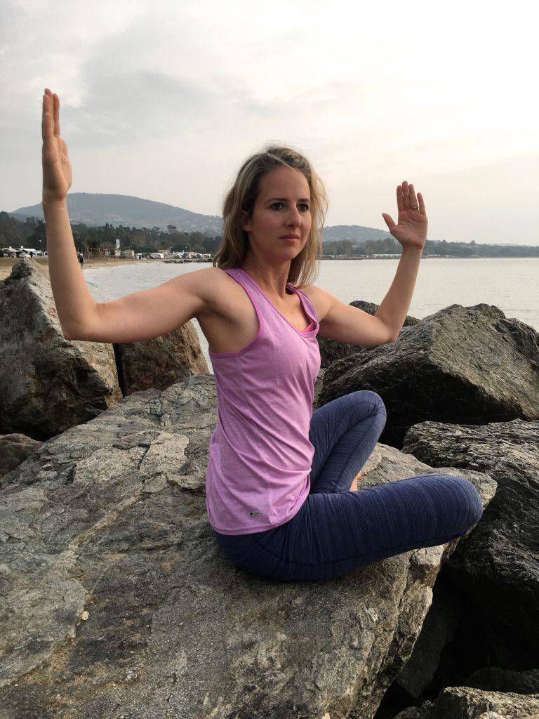 Outdoor-Yoga an der Côte d'Azur