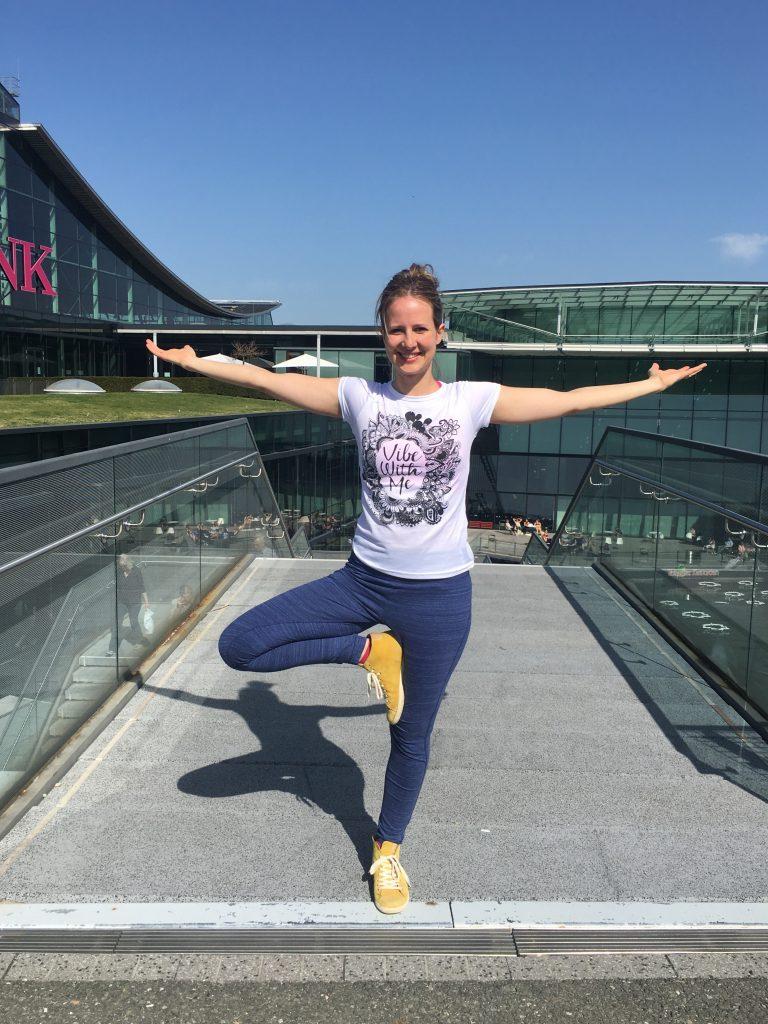 Lotte auf der Yoga-Messe