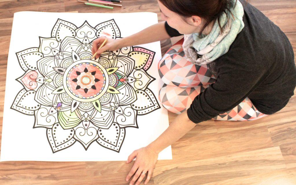 Lotte malt Mandala